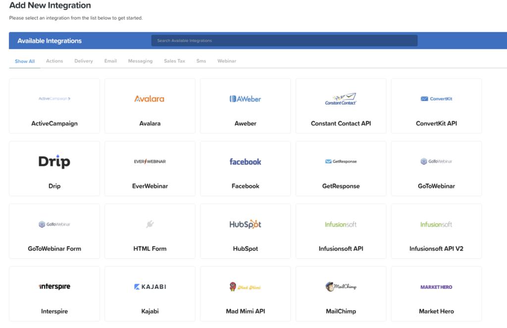 Clickfunnelsと連携できる他社ツール一覧